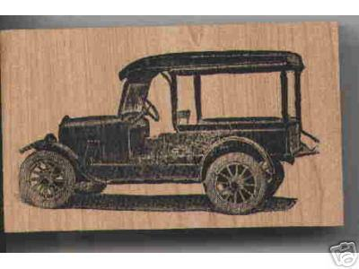 Primary image for Ford? TRUCK  Rubber Stamp antique collectable