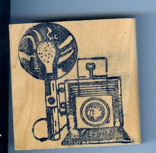 Primary image for Graphic Graflex Top Range Camera Rubber Stamp With Flash