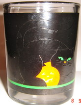 Halloween Votive Candle Holder ~ Black Cat Pattern ~ Used - $8.00