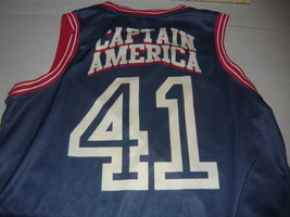 Vintage Marvel Comics Captain America # 41 Men XXL Sleeveless Basketball... - $29.98