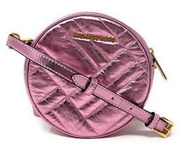 Michael Kors Vivianne Canteen Quilted Leather Crossbody Bag (Pink) - $130.67