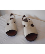 Naturalizer Scout Womens strappy Shoes Sandals Creamy White Leather uppe... - $39.59
