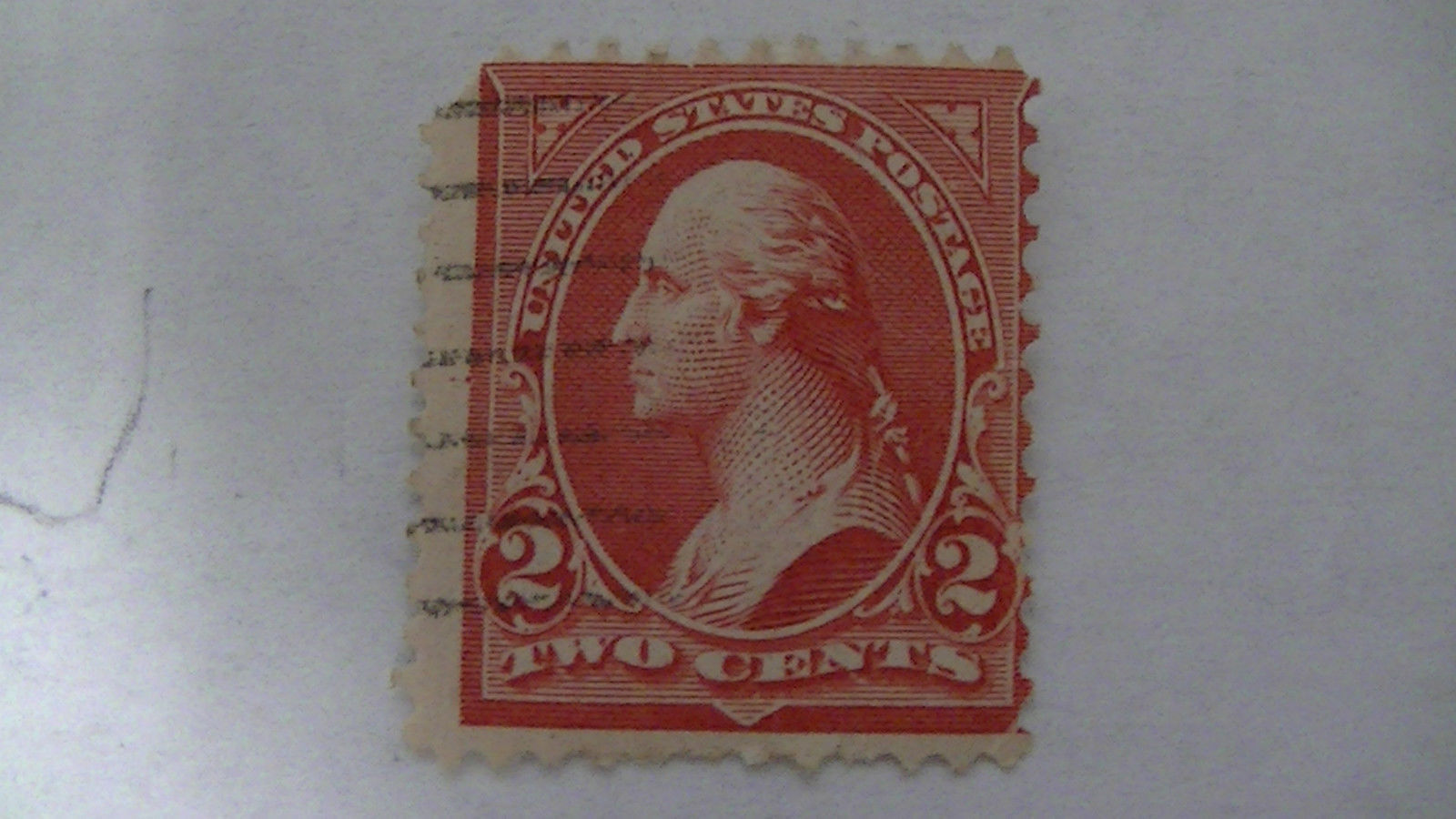 Pink Vintage USA Used 2 Cent Stamp