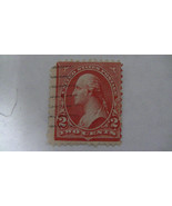 Pink Vintage USA Used 2 Cent Stamp - $7.86
