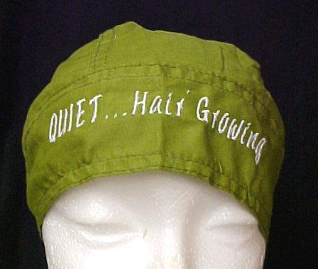 Chemo Cancer Head Cover Hat Durag Olive Green Quiet Hair Growing Cotton New