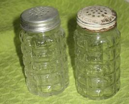 Anchor Hocking Salt & Pepper Set-Window Pane- 3 in. - $8.00