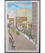 White Border, color Postcard, St Catherine St, West, Montrea - $7.00