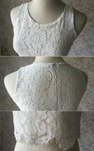 Two Piece Bridesmaid Dress Chiffon Skirt Sleeveless Crop Lace Top Green Wedding image 5