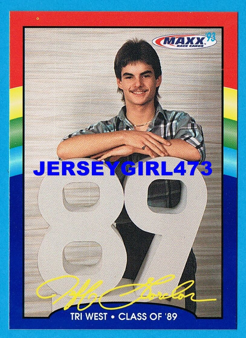 Jeff Gordon '93 MAXX Special Edition Tri West Class of '89 NASCAR Racing Card #9