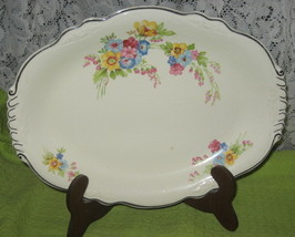 "Homer Laughlin Virginia Rose Serving Platter-11.5""-1940's - $16.00"