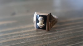 Vintage 1957 Riley High School 10k Yellow Gold Ring Size 11.5 7.73g - $296.99