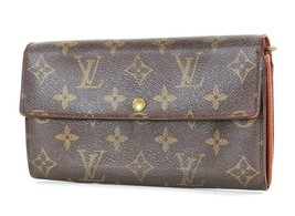 Authentic LOUIS VUITTON Sarah Long Wallet Monogram Zippered Coin Purse #... - $215.10