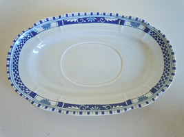Metlox Antique Blue Gravy Boat Underplate - $13.83