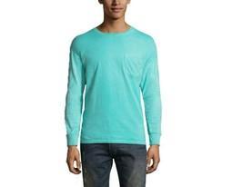 Hanes Men's Large Mint Green Comfort Wash Long Sleeve 100% Cotton T Shirt - £9.50 GBP