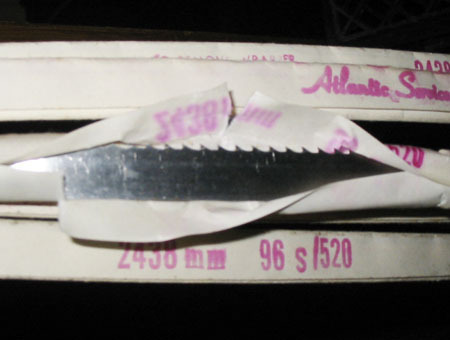 ATLANTIC HIGH-SPEED BONE-IN BUTCHER BANDSAW BLADES (MIXED SIZES/LOT OF 34) ~ NEW