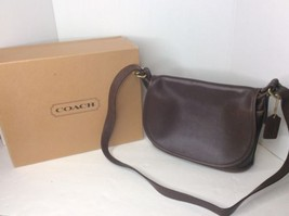 COACH 4150 Soho Fletcher Brown Leather Crossbody Messenger Purse Handbag... - $149.13