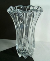 Celebrations by Mikasa Crystal BLOSSOM Vase Ruffle Clear Glass Star Base... - $34.60
