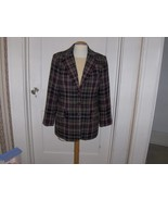 White Stag Womens Purple,Cream and Green Plaid Blazer - $20.00