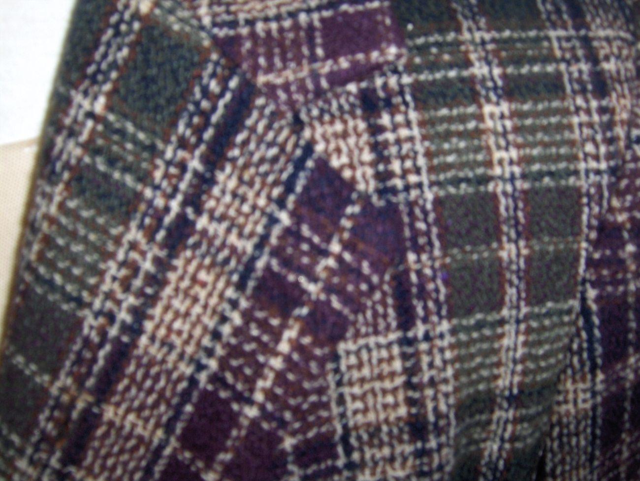 White Stag Womens Purple,Cream and Green Plaid Blazer