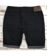 SILVER JEANS SHORTS Mid Rise Suki Black Denim Cuffed Stretch Jean Shorts 28 - $17.85