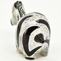Crafts Caravan Hand Carved Soapstone Grey & Black Chubby Zebra Figurine Kenya image 3