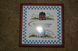 """AVON Ceramic and Wood Trivet """"Home is where the heart is"""" - $6.99"""