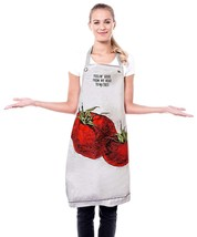 Two's Company Farm To Table Novelty Apron Mason Jar Feelin Good To Ma To... - $11.87