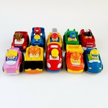 10 Fisher Price Little People Wheelies Lot Cars Train Firetruck Construction - $12.99