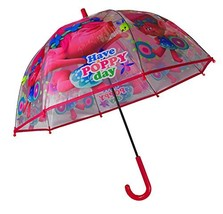 Children,Kids,Umbrella,Official TrollsPattern Poppy&Transparent Umbrella - $30.80