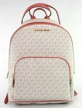 Michael Kors Connie Monogrammed Medium Backpack Rose Vanilla - $469.81
