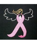 Breast Cancer Awareness Pink Ribbon Angel Black S/S T Shirt 2X Unisex New - $25.45
