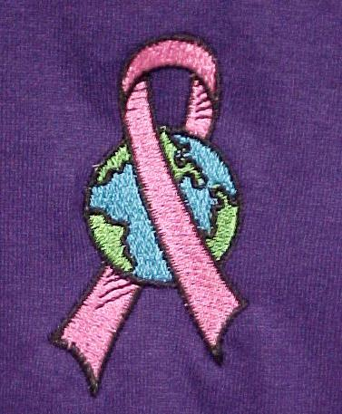 Breast Cancer T Shirt M Pink Awareness Ribbon World Purple Short Sleeve New