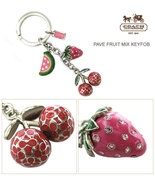 COACH PAVE FRUIT KEYCHAIN FOB NWT 92715 - $60.00
