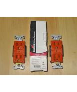 COOPER 15 AMP 125 VOLT DUPLEX ORANGE COMMERCIAL RECEPTACLE (NEMA 5-15R) ... - $9.99