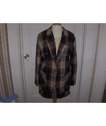 Alisan Tracey Womans Brown Gray and Tan Plaid Suit - $24.00