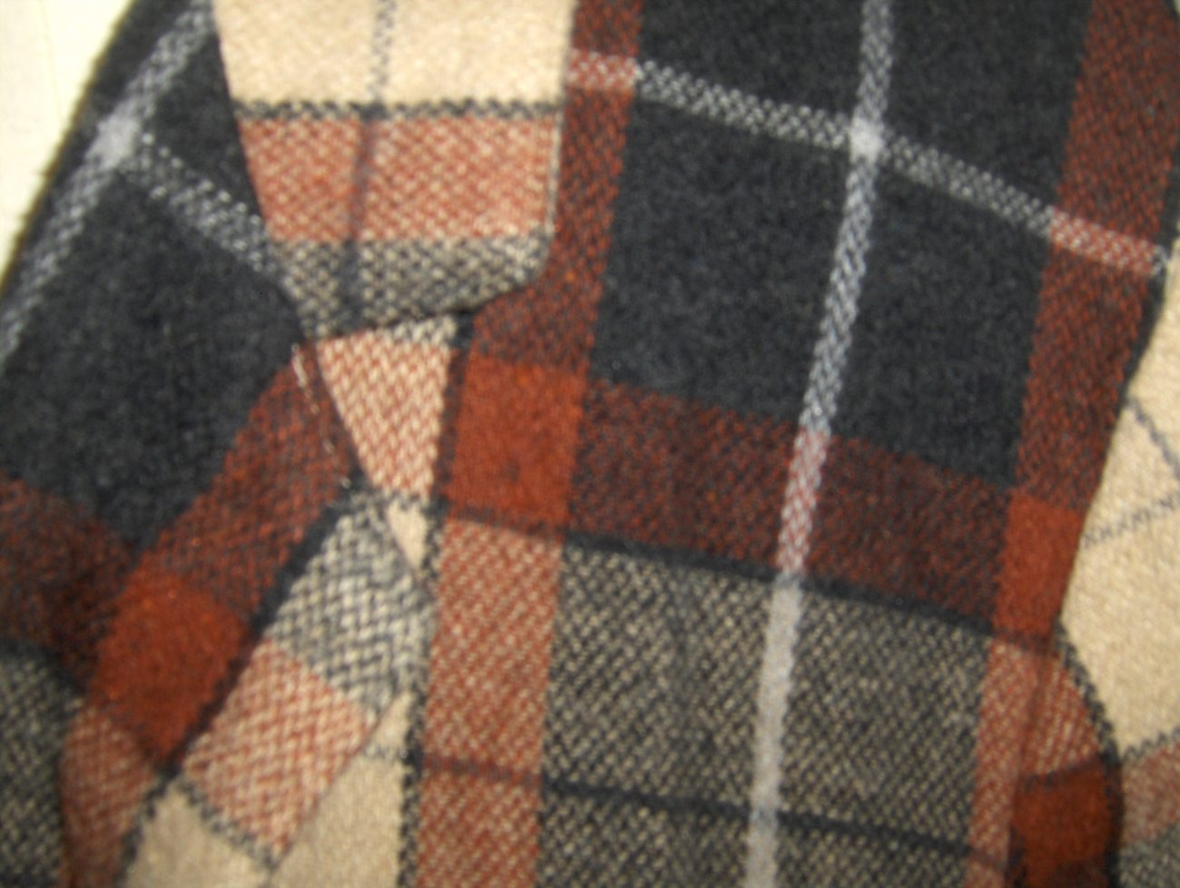 Alisan Tracey Womans Brown Gray and Tan Plaid Suit