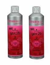 Lot 2 ~ Schwarzkopf GOT2B 2SEXY Voluptuous Volume Hairspray Studio Size 12 Oz Ea - $43.55