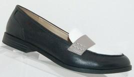 Naturalizer 'Veronica' black leather round toe slip on loafer block heel... - $33.34