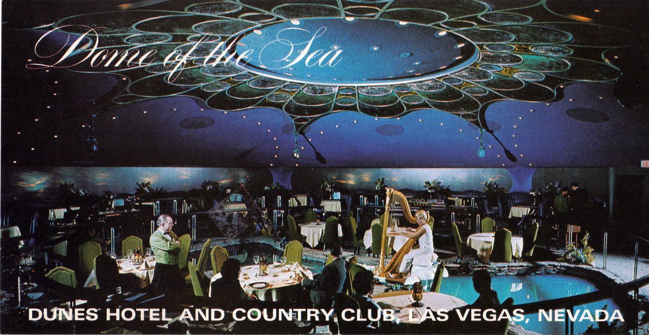 DOME OF THE SEA - DUNES Hotel Country Club Las Vegas Postcard