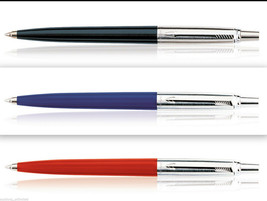Parker Jotter Standard CT Set of 3 Pens Ball Pens 1 Black 1 Red 1 Blue O... - $14.99