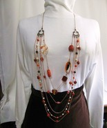 Fall Color Copper Multistrand Necklace RKMixables Copper Col - $125.00