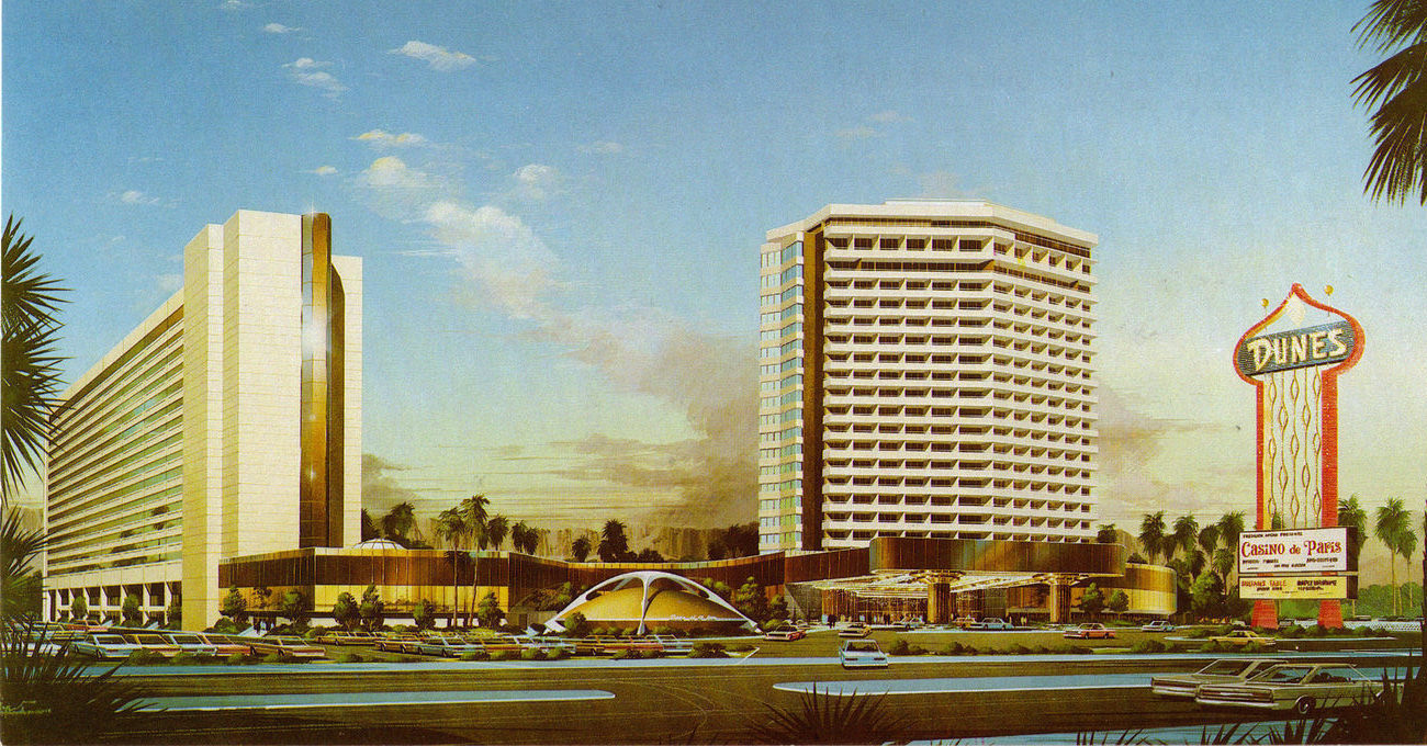 DUNES Hotel and Country Club Las Vegas Postcard, New