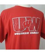 Team Starter Wisconsin Badgers T-Shirt Men Sz L Cotton Big Red Bucky UW ... - $13.88