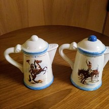 Paris & BeeBee Cow Girls Salt & Pepper Shakers   Made of Stoneware Set  image 1