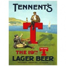 Tennent's 19th T Lager Beer Metal Sign - $29.95