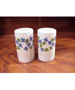 Takahashi Blue and Green Flowers Ceramic Salt Pepper Shakers - $9.95
