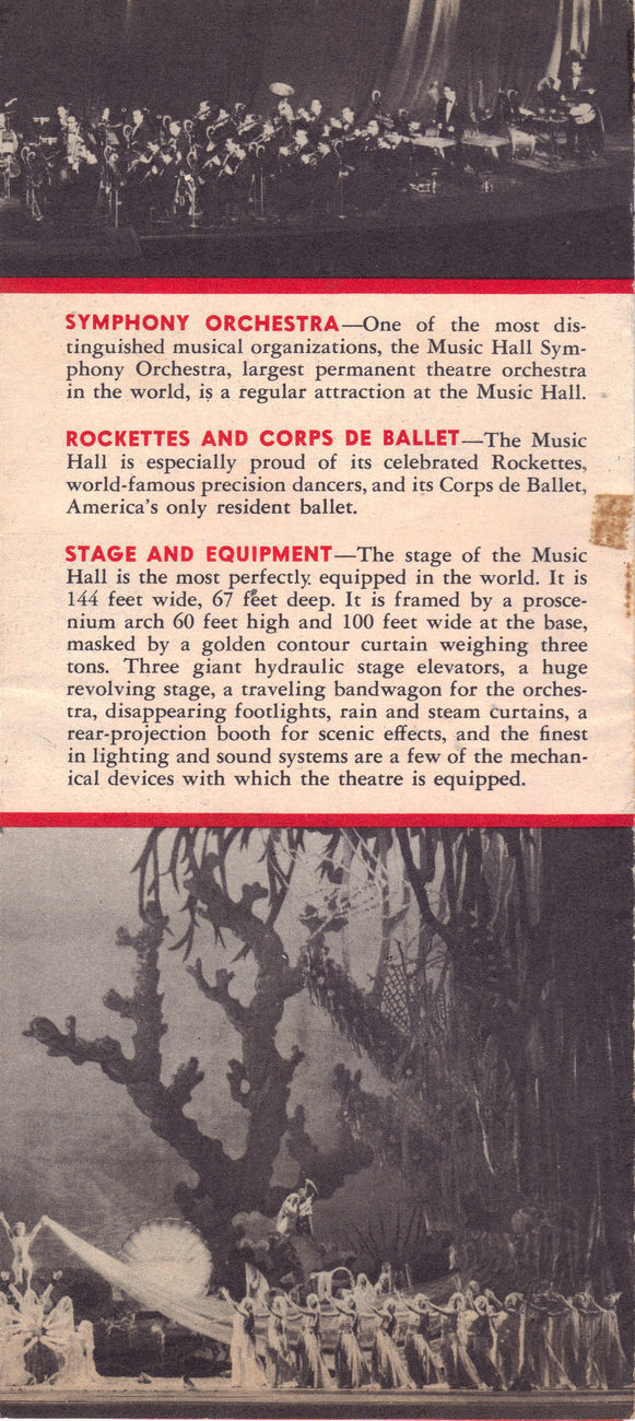 Radio City Music Hall Rockefeller Center New York Brochure