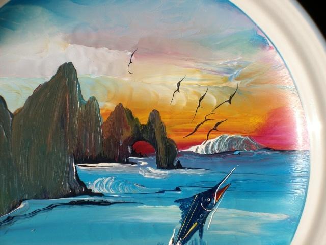CABO SAN LUCAS Ocean Scene Handpainted Plate - Wow!