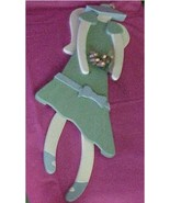 Wall Hanging, Wood, Garden Party Angel with Bouquet - $30.00