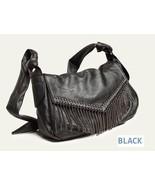 NWT Mental Chain Tassel women's Shoulder Bag / Black - $28.00